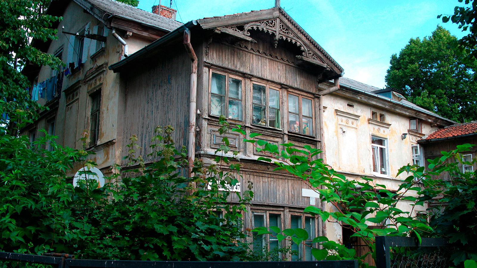 старый жилой дом на улице Московской