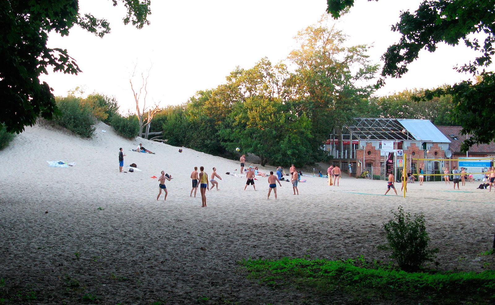 пляжный волейбол на дюне