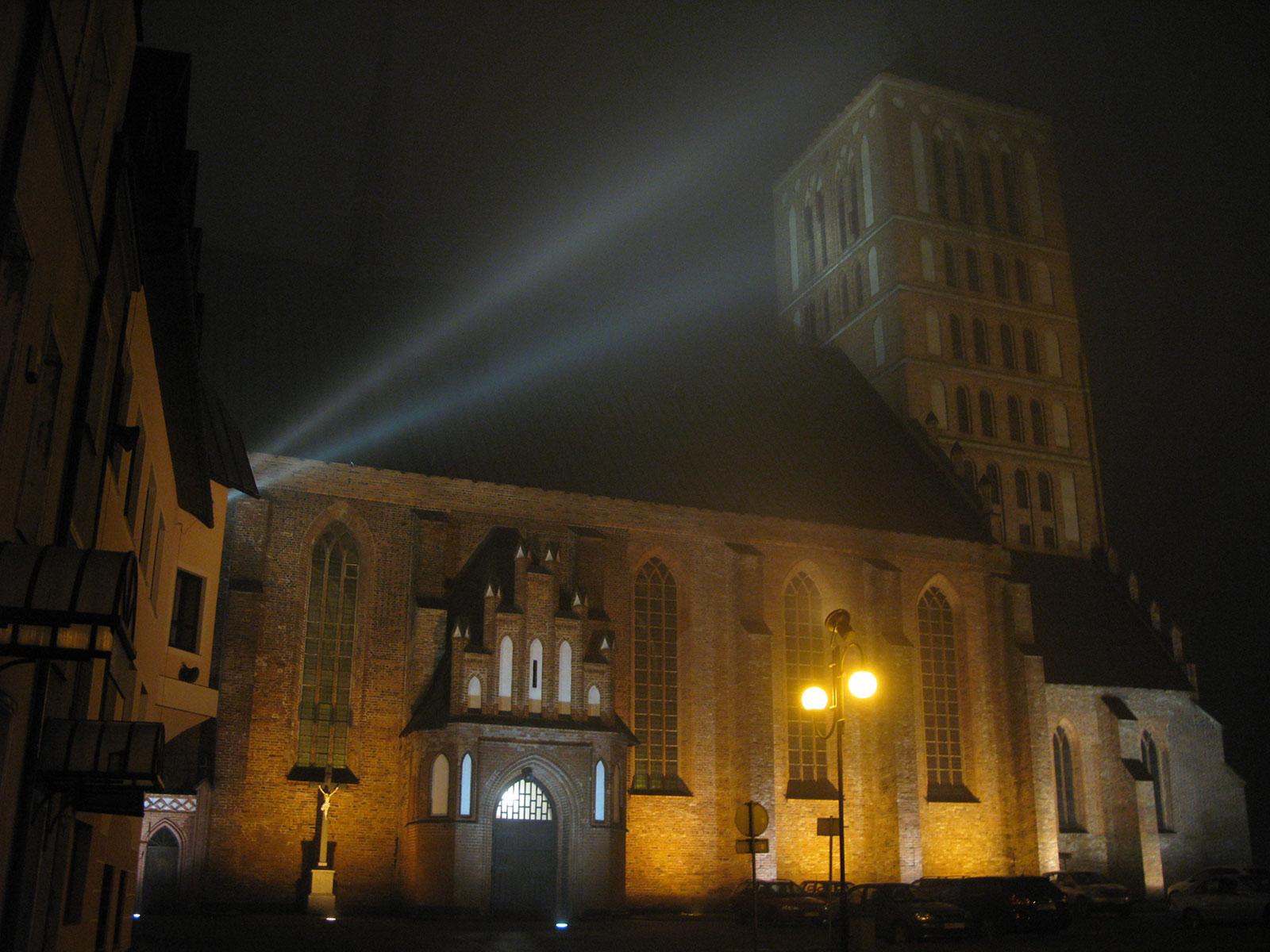 Базилика в Бранево в тумане