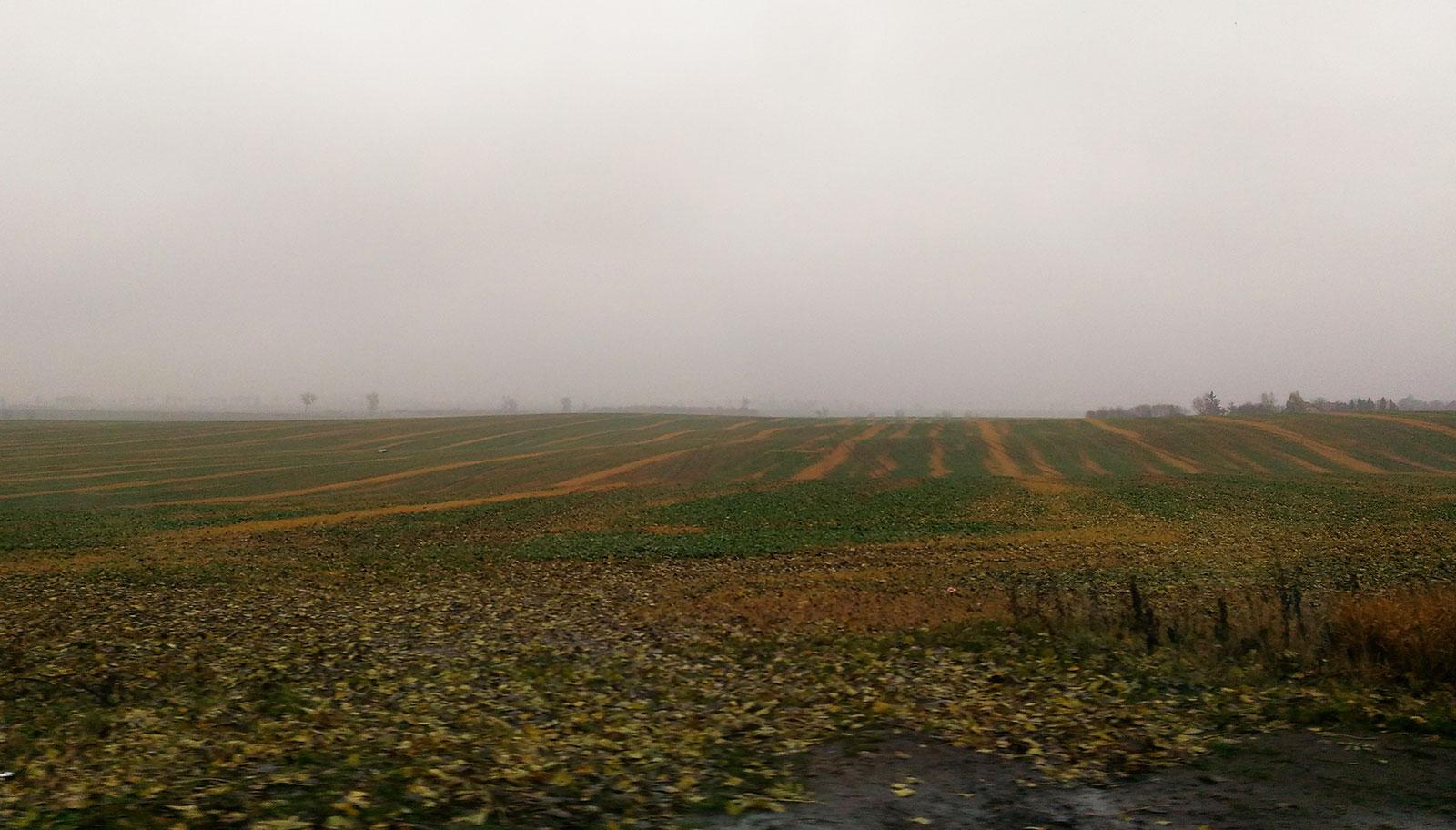 Вспаханные поля в Польше