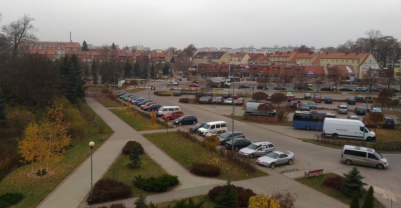 Вид из окна отеля Стодоля в Бартошице