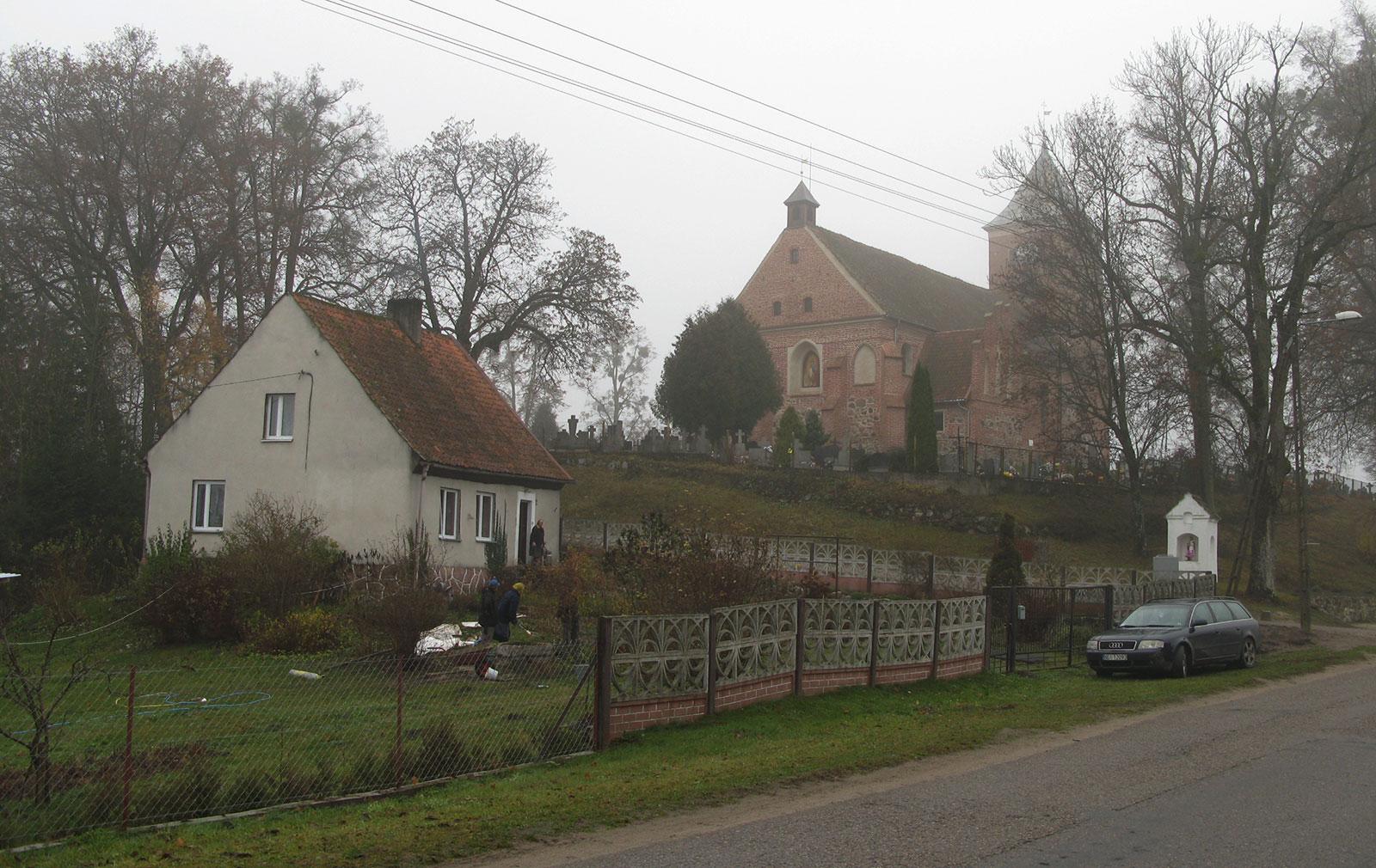 деревня в Польше с кирхой