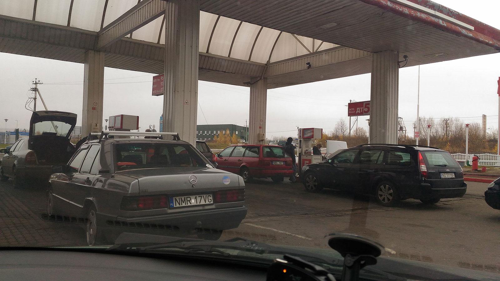 Заправка возле погранперехода Багратионовск