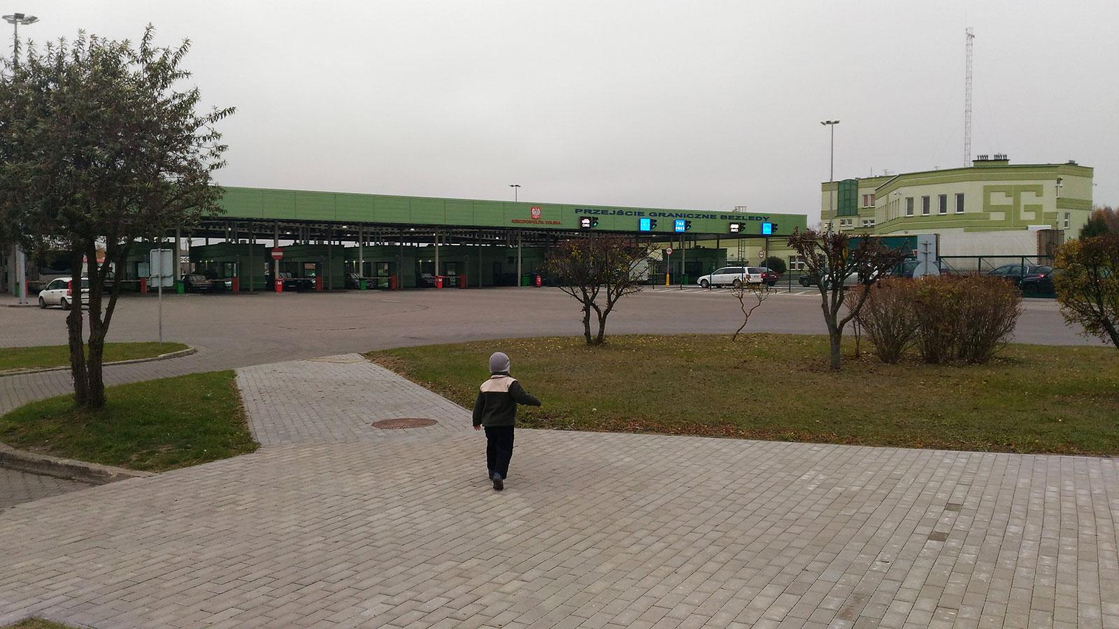 на границе в Польше