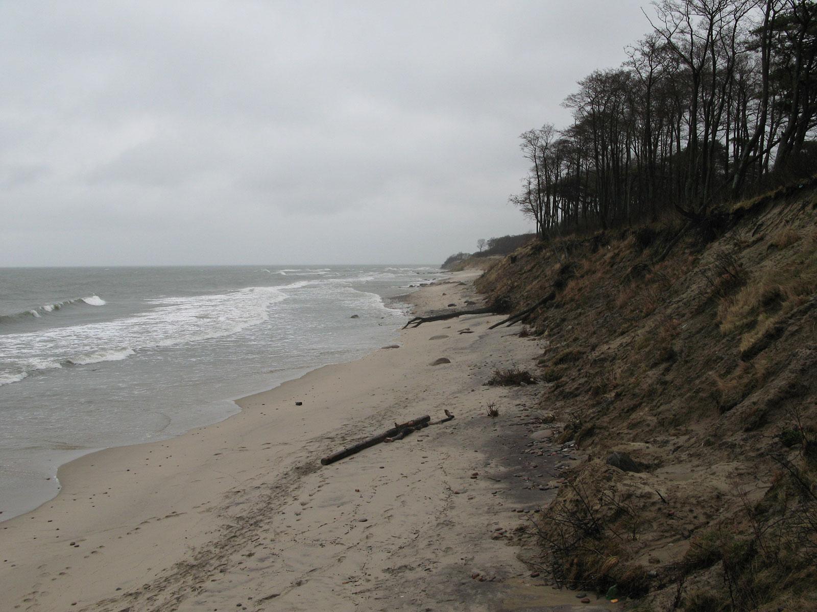 берег Балтийского моря возле Заостровья