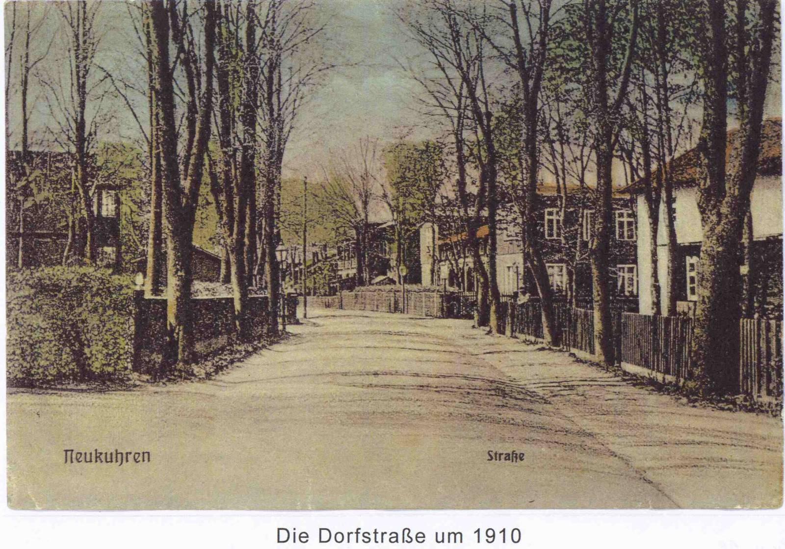 Дорфштрассе в Нойкурене, 1910 г.