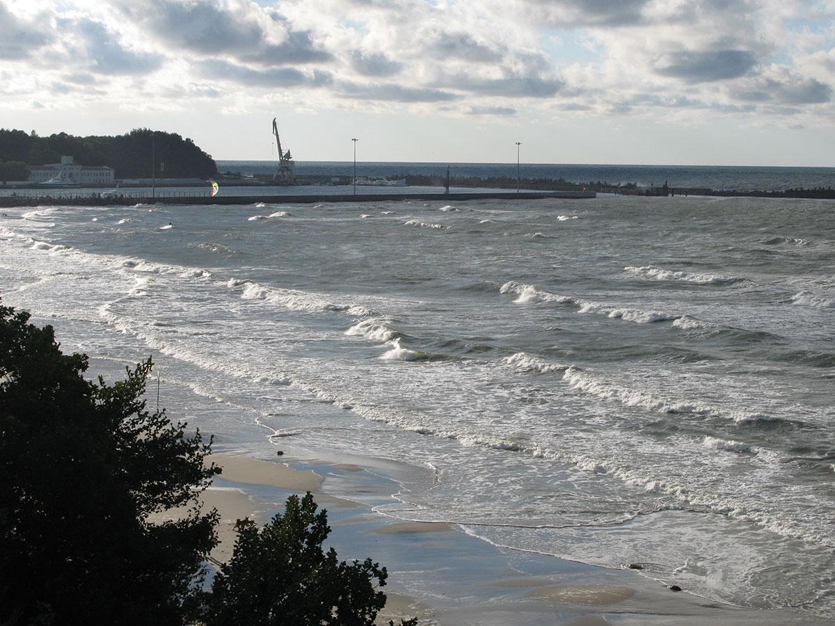 Балтийское море с обрыва в Пионерском