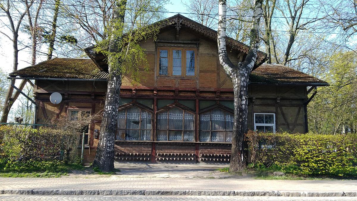 вилла с фахверком 19 века в Калининградской области