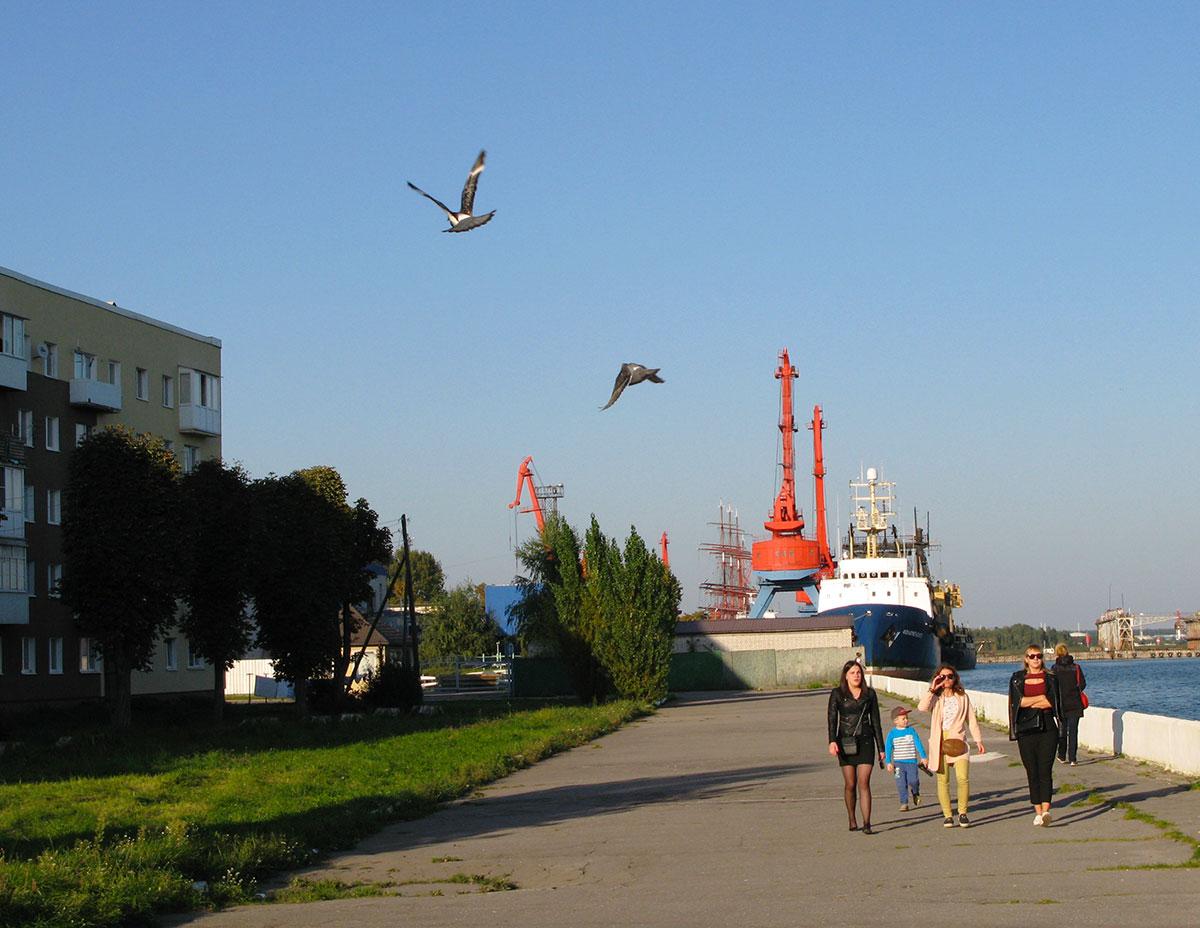 набережная в городе Светлый Калининградской области