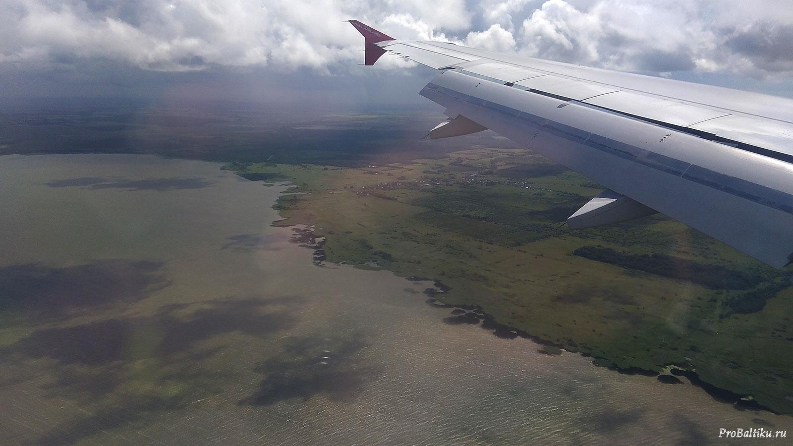 Куршский залив с самолета