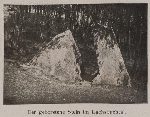 Der-geborstene Stein-im-Lachsbachtal-1912-1922